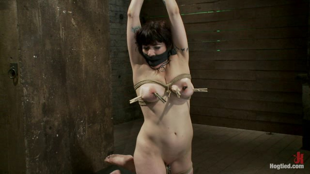 Actual member of the site applies to model and is accepted. This big titted MILF is bound and abused.