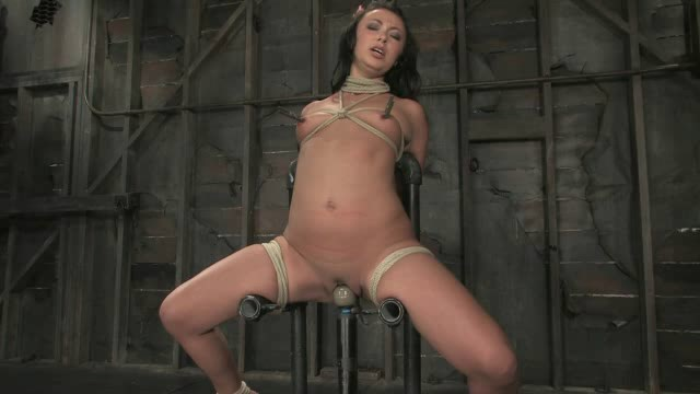 Bianca Dagger suffers and cums though her first hardcore bondage experience.
